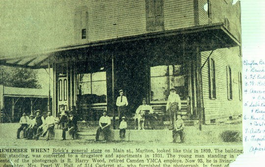 Brick's Store c. 1880 – 1 East Main Street