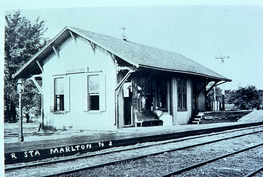 Closeup of Marlton Station