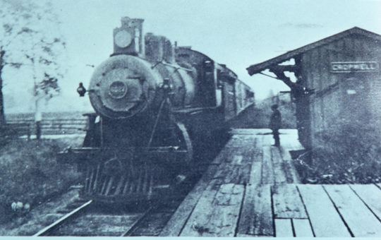 Train Stopped at Cropwell Station