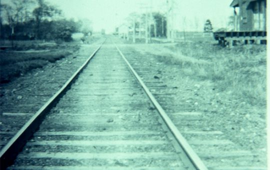 View of Tracks Looking East at North Maple Avenue